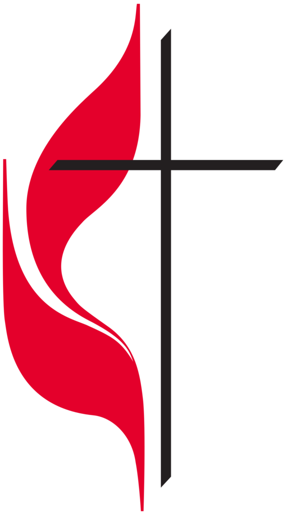 UMC cross and flame logo